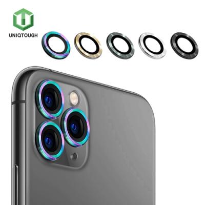 UNIQTOUGH iPhone 11 Pro/Pro Max航太鋁康寧鏡頭保護環 炫彩霓