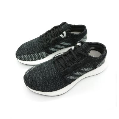 adidas 慢跑鞋 避震 運動 編織 女鞋 黑 B75822 PureBOOST Go