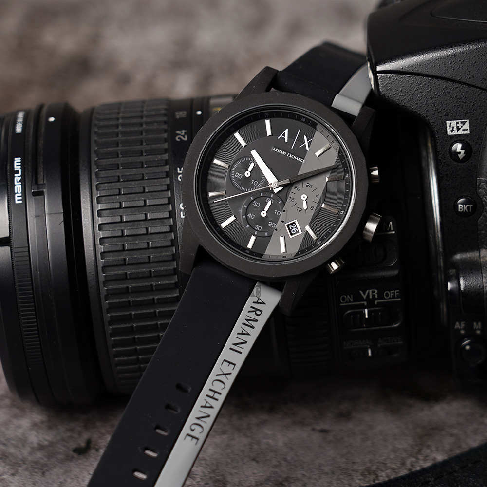 A│X Armani Exchange 休閒計時手錶-44mm  AX1331 product image 1