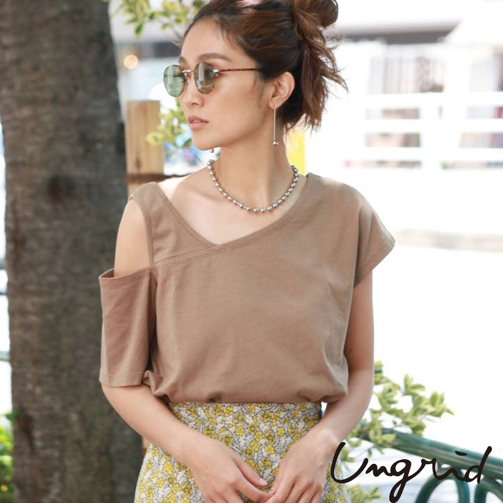 Ungrid 單肩不規則剪裁短袖上衣(3色)