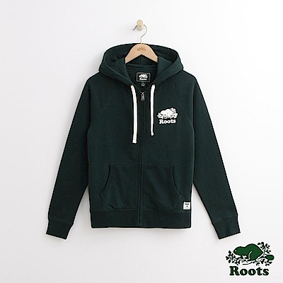 Roots 女裝- 庫柏海狸連帽外套 - 綠
