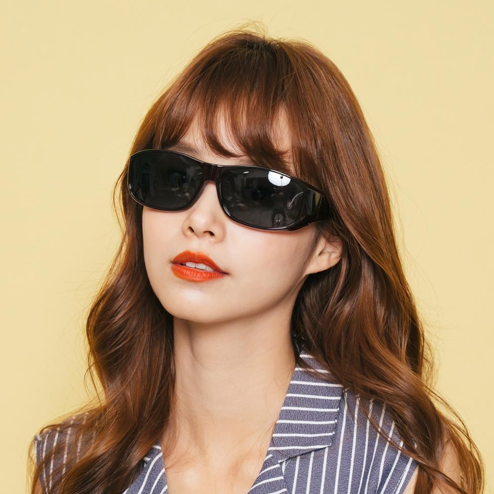 ALEGANT優雅勃根地酒紅全罩式偏光墨鏡/外掛式UV400太陽眼鏡(包覆式/車用太陽眼鏡)