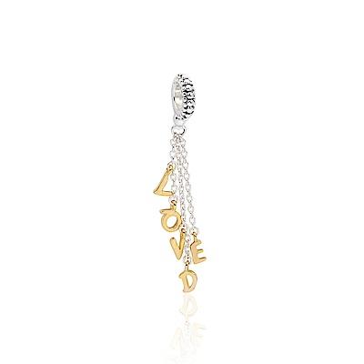 Pandora 潘朵拉 魅力18k鍍金LOVED字母 垂墜純銀墜飾