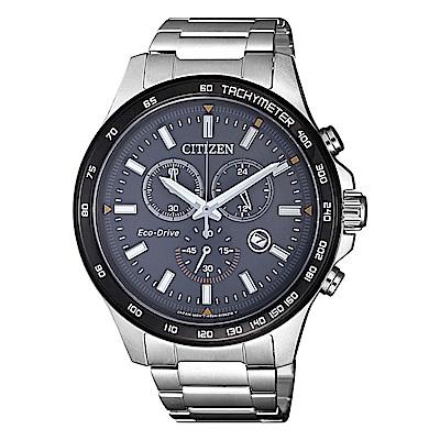 CITIZEN Eco-Drive 三眼競速計時碼錶(AT2424-82H) 男錶