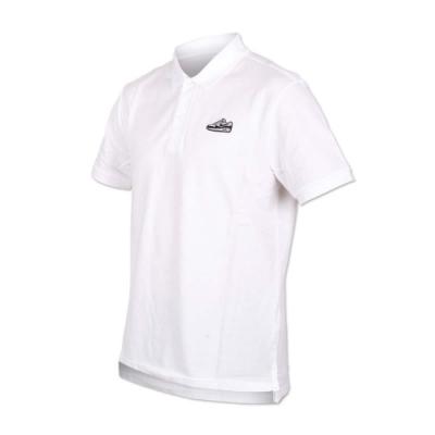 NIKE 男短袖針織POLO衫-短袖上衣 慢跑 路跑 白黑