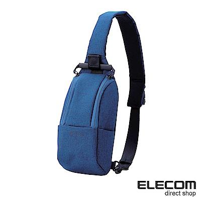 ELECOM 帆布兩用輕便斜背包-藍