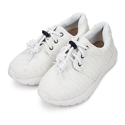 BuyGlasses 舒適麥芽紋元素慢跑鞋-白