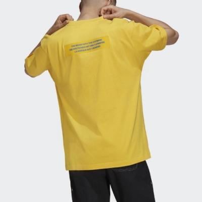 adidas T恤 ADICOLOR Big Trfl T 男款 愛迪達 三葉草 大LOGO 魔鬼氈 黃 藍 H09345