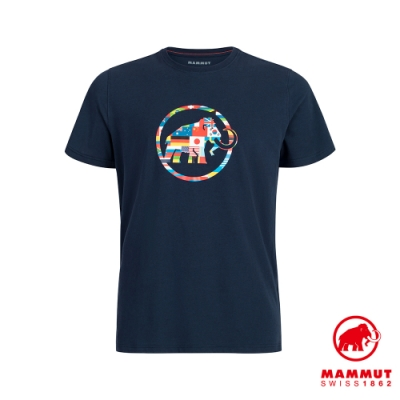 【Mammut 長毛象】Nations T-Shirt Men 世界LOGO短袖上衣 男款 海洋藍 #1017-02220
