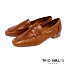 Tino Bellini義大利進口學院休閒氣息便士樂福鞋_棕