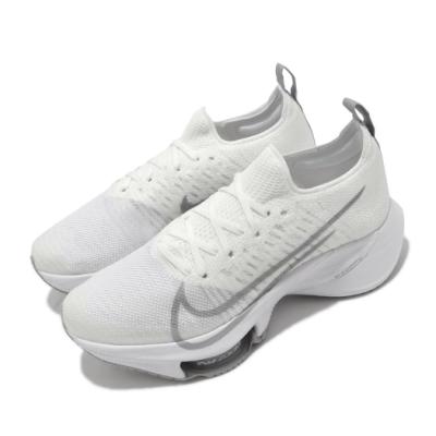 Nike 慢跑鞋 W Tempo Next FK 女鞋 Zoom 套腳 避震 跑鞋 訓練 米 白 CI9924101