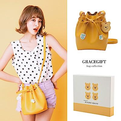 Disney collection by Grace gift小熊維尼造型綁結束繩水桶包