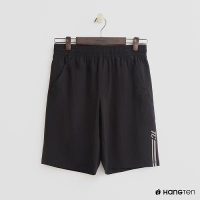 Hang Ten - 男裝 - ThermoContro-彈性鬆緊五分褲 - 黑