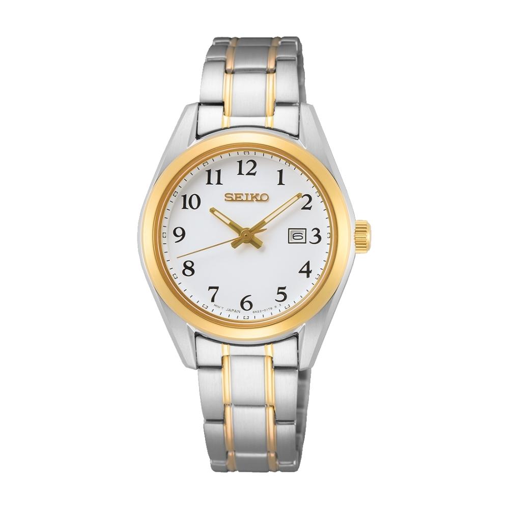 SEIKO 優雅藍寶石鏡面時尚腕錶6N22-00P0KS(SUR466P1)