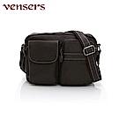 vensers 小牛皮潮流個性包~斜肩背包(N301801咖啡)