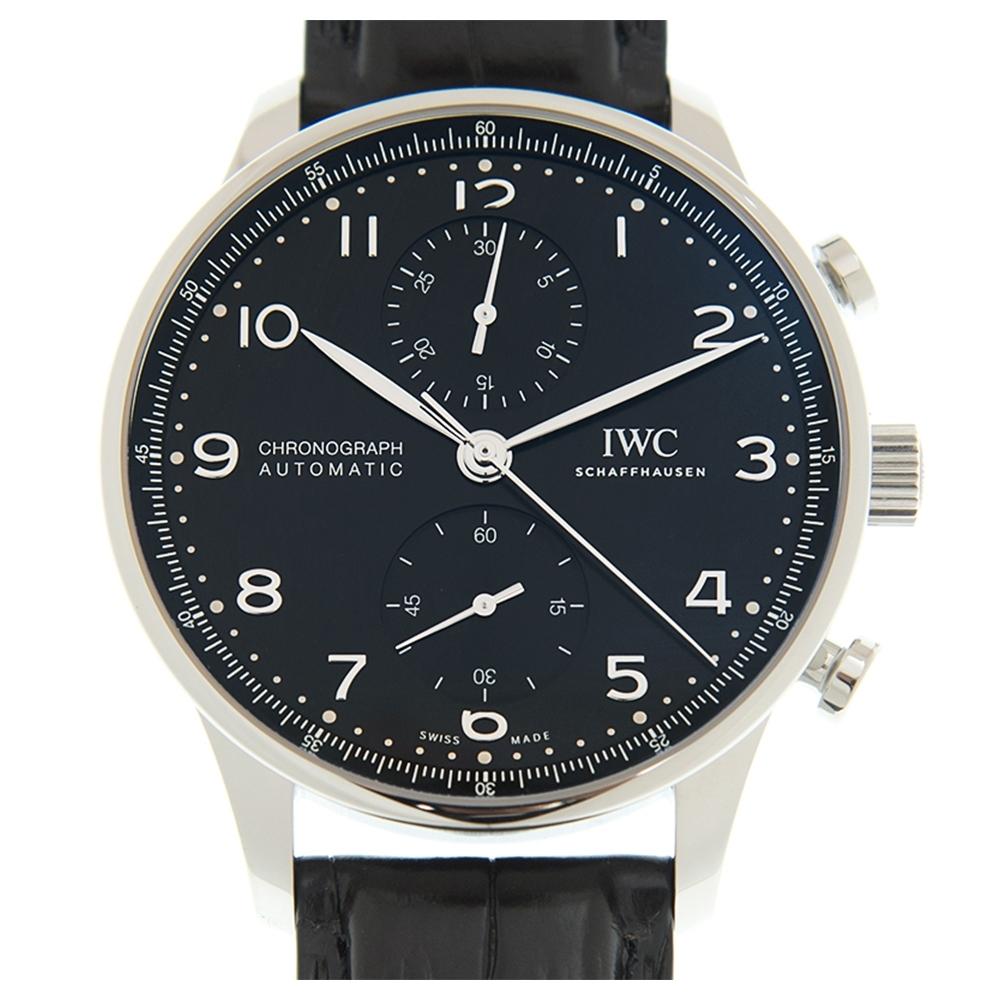 IWC 萬國錶 Portuguese 葡萄牙計時腕錶(IW371609)x黑x41mm