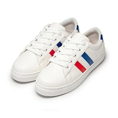 BuyGlasses 雙線綁帶休閒鞋-藍紅