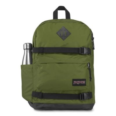 JanSport 校園背包(WEST BREAK)-橄欖綠