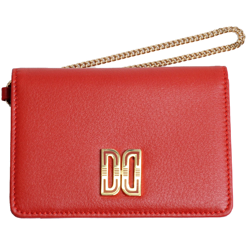 DAKS 經典品牌DD LOGO牛皮證照/名片夾(紅色)