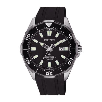 CITIZEN 光動能冒險極致潛水腕錶-黑(BN0200-13E)-41mm