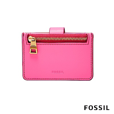 FOSSIL MINI WALLET 多國貨幣皮夾 小夾-螢光粉