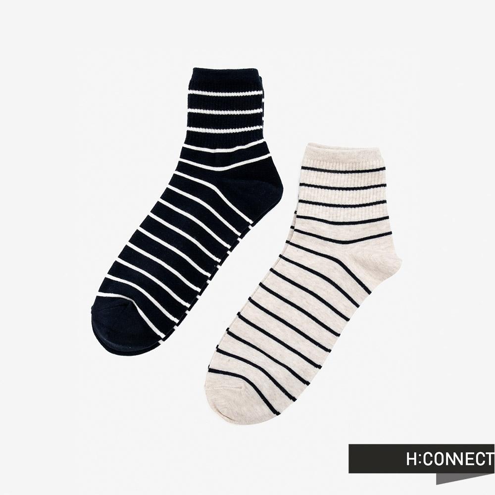 H:CONNECT 韓國品牌 配件 -簡約條紋襪組