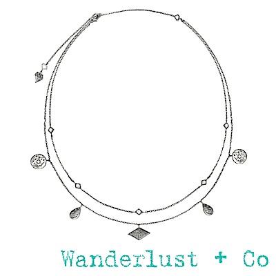 Wanderlust+Co星系項鍊 - 銀色