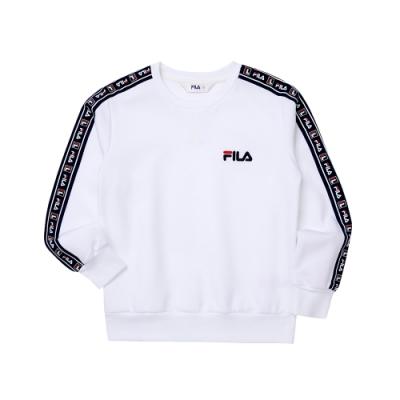 FILA KIDS #日潮攻略首部曲 童長袖上衣-白色 1TEU-4429-WT