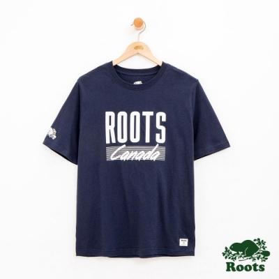 男裝Roots 邁阿密短袖T恤-藍
