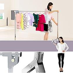 創新自動重力鎖扣不鏽鋼Y型2.0米單桿伸縮曬衣架