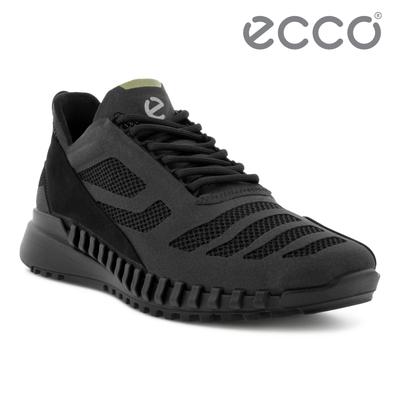 ECCO ZIPFLEX M 酷飛拼接設計運動戶外休閒鞋  男鞋 黑色