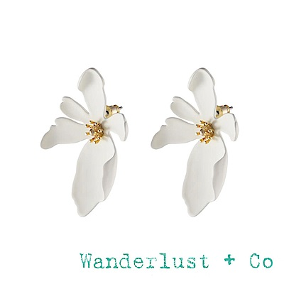 Wanderlust+Co 澳洲品牌 象牙白蘭花耳環 甜美海洋 CAMILLA IVORY