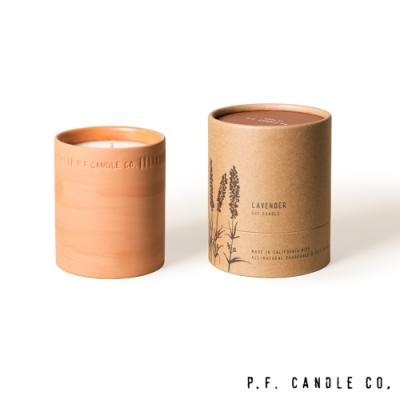 美國 P.F. Candles CO. 植物陶罐系列 薰衣草森林 手工香氛蠟燭 226g