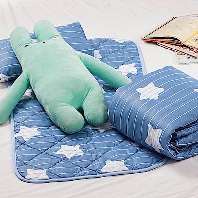 小星星 兒童涼被睡墊童枕3件組