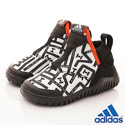 adidas童鞋星際大戰聯名襪套鞋款TW579白黑寶寶段