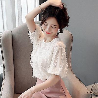 氣質優雅雪紡衫S-2XL(共兩色)-白色戀人
