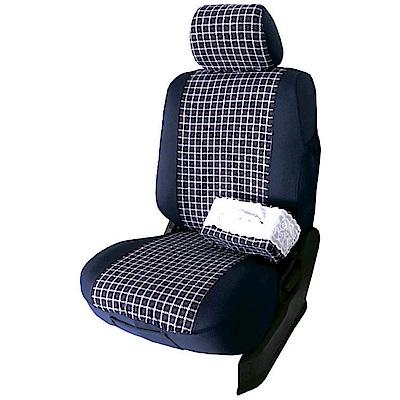 【葵花】量身訂做-汽車椅套-布料-格子萊卡A-露營車款-雙前座-第一排2人座