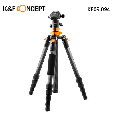 【K&F Concept】SA225C1 快速者 5節 碳纖維三腳架 球型雲台 可單腳架  (KF09.094 )
