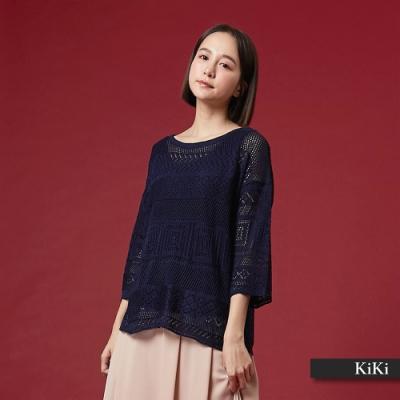 【KiKi】早春度假風簍空-針織衫(三色)