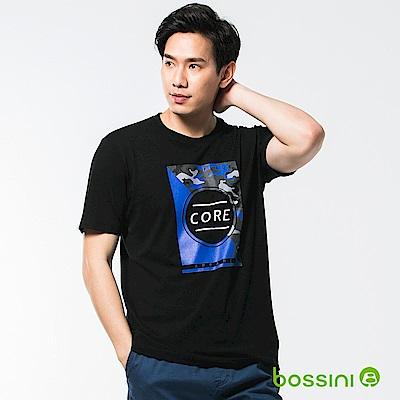 bossini男裝-印花短袖T恤32黑