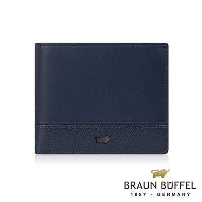 BRAUN BUFFEL - 邦尼系列4卡零錢袋皮夾 - 深海藍