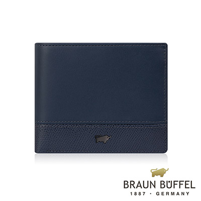 BRAUN BUFFEL - 邦尼系列5卡窗格皮夾 - 深海藍