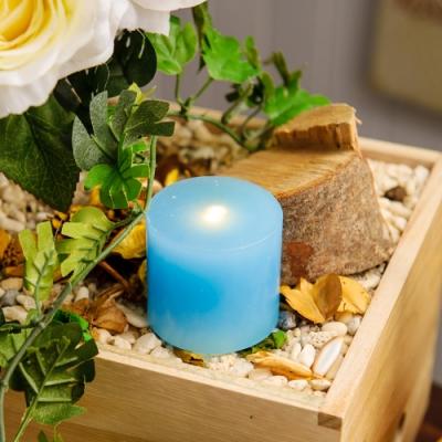 【週年慶倒數1天↗全館限時8折起-生活工場】RICH ROSE全蠟充電式LED蠟燭燈大型L號藍色