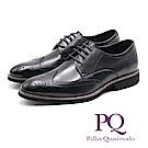 PQ 牛津雕花壓紋輕量皮鞋 - 黑(棕)