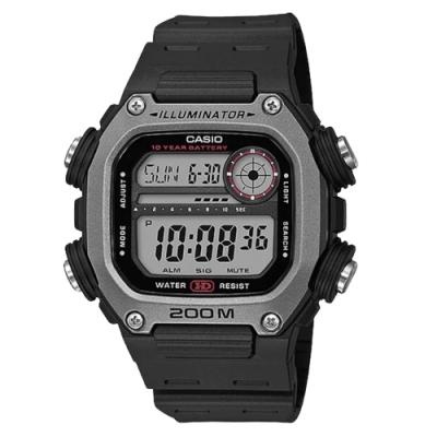 CASIO Youth 數碼運動電子腕錶-黑X灰(DW-291H-1AVDF)/