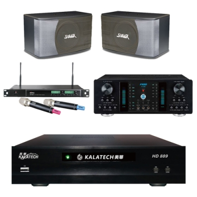 美華HD-889+FNSD A-350+SK-8610+ACT-589(伴唱機3TB+卡拉OK套組)