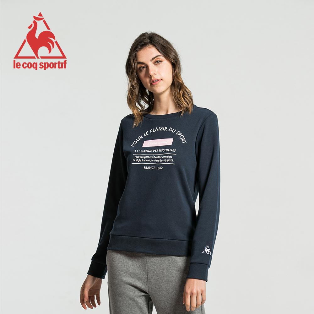 le coq sportif 法國公雞牌運動毛圈圓領大學T恤 女-丈青
