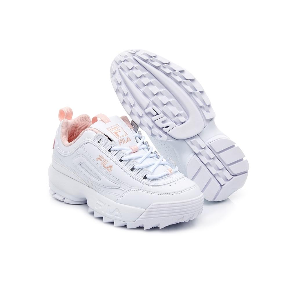 FILA DISRUPTOR 2 中性運動鞋(鋸齒鞋)-粉 4-C113V-115
