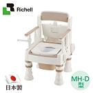 日本利其爾Richell 可擕式舒適便座MH-D型-暖房脫臭(象牙白)