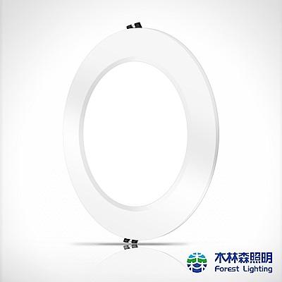 木林森 LED超薄崁燈15W-白光一入